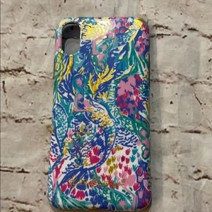 Lilly Pulitzer iPhone X phone case mermaid's cove